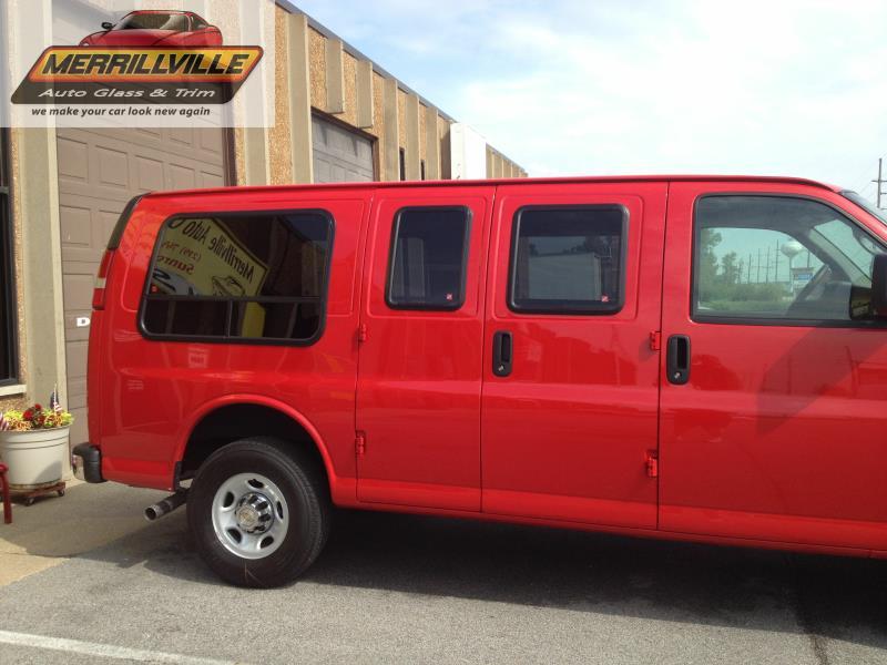 2015 Express Van Pass Side Bay Windows And Cargo Door