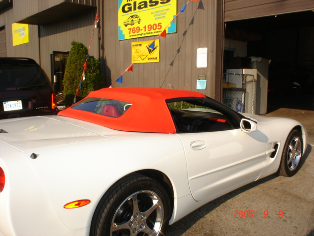 Hot Rod Red Corvette Convertible Top Replacement