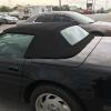 1994 Corvette Convertible black cloth top replacement
